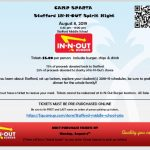 Spirit Night: In-N-Out Burger at Camp Sparta